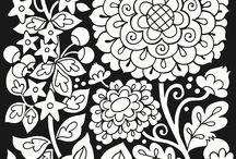 Zentangles and Doodles: Botanical