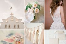 White and nude wedding palette