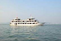 Halong bay cruise in Vietnam / Halong bay cruise are the most visited cruise trip in South East Asia. It is popular because of it's extraordinary beauty, hundreds of rock formations and caves. It is situated in north eastern part of Vietnam.