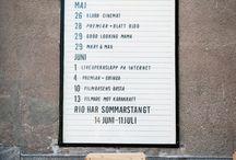 Information signs restaurant