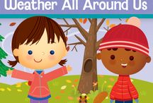 """What's Inside """"Weather All Around Us"""" / This fall, your children will chase the wind and discover the mystery of weather and the changes that come withthe seasons. They will love pretending to twirl like tornados and imitate thunderclouds. Your children will make a rain stick, sort leaves and curl up like a hibernating bear in his cozy den. - See more at: http://www.mothergoosetime.com/monthly-themes/weather-all-around-us/#sthash.JATXh0bG.dpuf"""