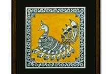 Folk Art / Amazing folk art pins. Typical bright Indian paintings