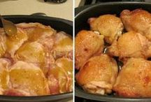 Csirke comb sütve