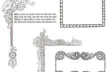 Elements, ornaments, frames and borders