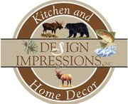 Rustic Dinnerware / Rustic Wildlife Dinnerware, artwork by American Artists.  High quality and unique design.