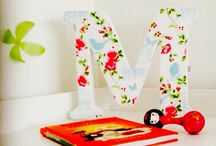 Happy Letters / Home deco - fabric letters and bunting flags www.fabricletters.cz