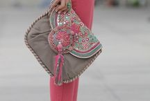 colorful handbags / Colorful handbags with oriental color twist