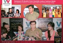 Gitanjali Fashion Week - Virtual Voyage -2016 / We are proud of our fashion Students.... For A Journey they shared now is becoming a legend among Fashion Fraternity. Have a look at the PHENOMENAL designs showcased by VVC Fashion Students at Indore Fashion Week.. We know you will be Amazed.... Join the journey that set trends.. Join Virtual Voyage College.