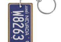 Retro License Plate Keychains