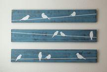 palet bird wall art
