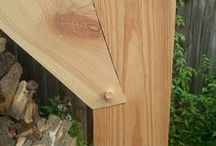 Timber frame & joints.
