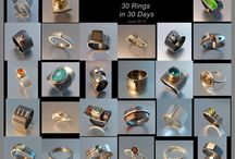 30 RINGS in 30 DAYS! / Contemporary jewellery, rings.
