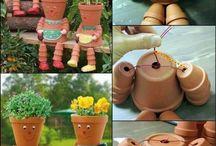 Květináčky - postavičky a okrasné tvoření