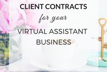 Virtual Assistant Templates / Virtual Assistant, VA, templates, workbooks, worksheets, welcome packet, packet, contract, client contract