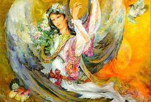 Иранский художник Mahmoud Farshchian