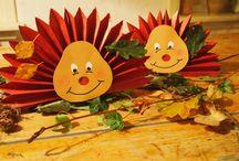 Herfst knutsels / Knutsel ideeën voor de kinderen van de Kangoeroe.