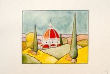 acquerelli-watercolors / lavori su carta-works on paper