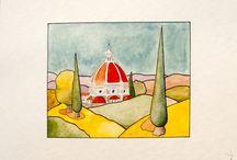 acquerelli-watercolors / lavori su carta-works on paper