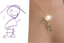 Transforming kids' artwork to jewelry