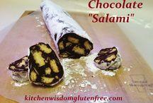 "Chocolate ""Salami"" / Kitchen Wisdom Gluten Free Chocolate ""Salami"" Recipe  http://kitchenwisdomglutenfree.com/2015/11/28/chocolate-salami-forget-what-you-know-about-wheatc-2015/"