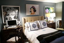 Bedrooms in the style of pop art / The interior of a bedroom in the style of pop art is characterized by the minimum set of furniture. As a rule, in this room is set bed, two bedside tables, a small, almost merging with the wall closet.