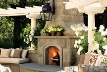 outdoor fireplaces and stoves