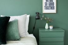 A green bedroom