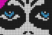 pixel rockab,tatoo,skull