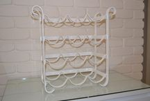 White White White  / Wrought Iron and Metal Pieces that have been upcycled and powercoated into colourful new trendy pieces for your home or office. Follow me on Facebook at: I Luvv Colour