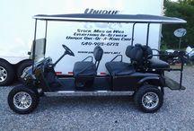 Black Cherry Limo Golf Cart