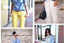 Blusa de mezcilla con amarillo ❤