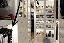 Closet ideas.  Dream closets.