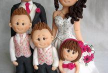 muñecos de torta