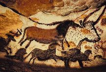 Cave, Rock & Earth Art / Prehistoric decorations made by humans on the ground, on rocks, and in caves. / by Judith Hindall