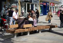 Canal Walk Project (Swindon) / Factory Furniture were asked to design some heavy duty curved seating for Canal Walk (part of the pedestrianised area of Swindon's town centre.