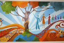 High Rolls Elementary Mural