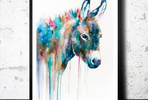 Art we LOVE on ETSY / This is a compilation of some of the great art pieces we have found on #ETSY.  Art plays a very important role in #HomeDecor.  It really helps to define your style.