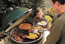 "Big Green Egg & Eggcessories / Widely acclaimed as the original American-designed ceramic cooker, the Big Green Egg was derived from an ancient clay cooking device known as a ""kamado"". Originally a clay vessel with a lid, today's EGG® is a modern ceramic marvel known for producing amazing culinary results for novice and experts alike for over thirty years!"
