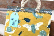 Borse in rete primavera-estate / Originali borse in rete metallica da pollaio rivestite in tessuto per idea regalo - arredo ambienti interni esterni Collezione primavera - estate
