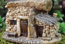miniature stone houses
