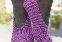 Strikk tøfler og sokker