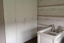 Behang steigerhout / Steigerhout behang