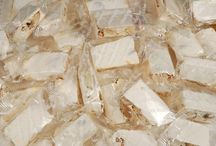 Italian Candy Wedding Favors / Torroncini makes an excellent wedding favors or stack large blocks of soft or hard torrone on the dessert table!!