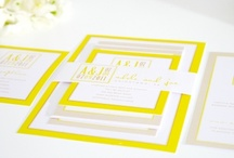 Bright Yellow Wedding / Yellow wedding inspiration for a bright and sunny wedding day! / by Shine Wedding Invitations