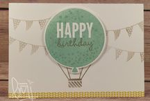 stampin up: balloons