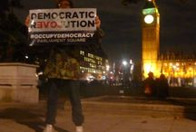 #OccupyDemocracy: Protesters  Parliament Square / by Darcy Delaproser