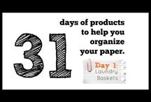31 Days of Products to Help You Organize Your Paper! / by Lisa @ Organize 365