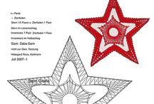 Horgolt csillag