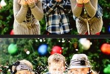 Outdoor christmas photoshoot