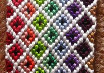 Bracelet tissé plusieurs couleurs / Bracelet tisse